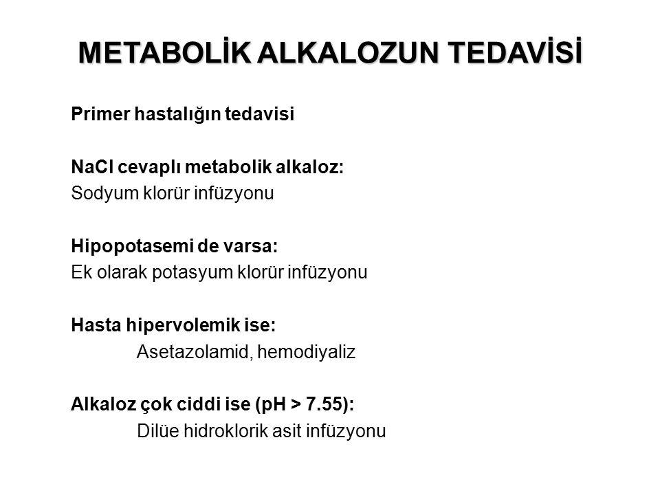 METABOLİK ALKALOZUN TEDAVİSİ