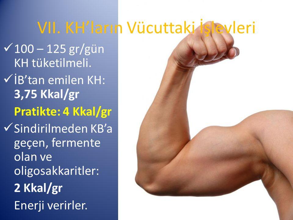 VII. KH'ların Vücuttaki İşlevleri