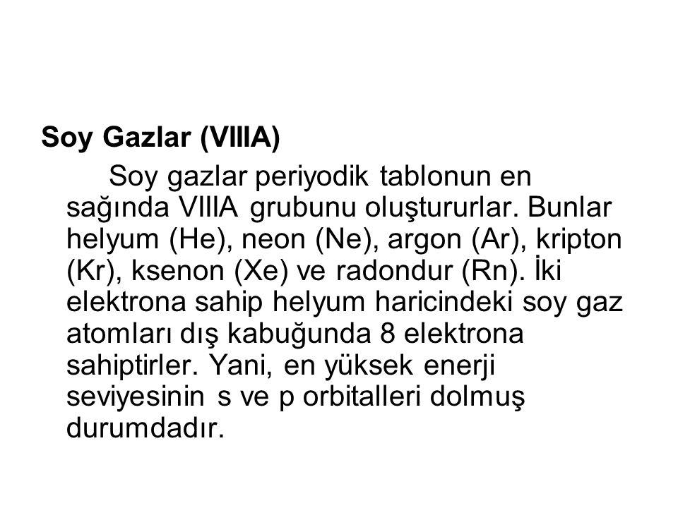 Soy Gazlar (VIIIA)