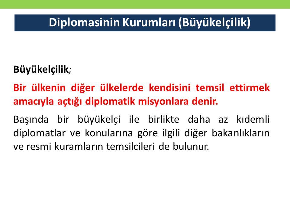 Diplomasinin Kurumları (Büyükelçilik)
