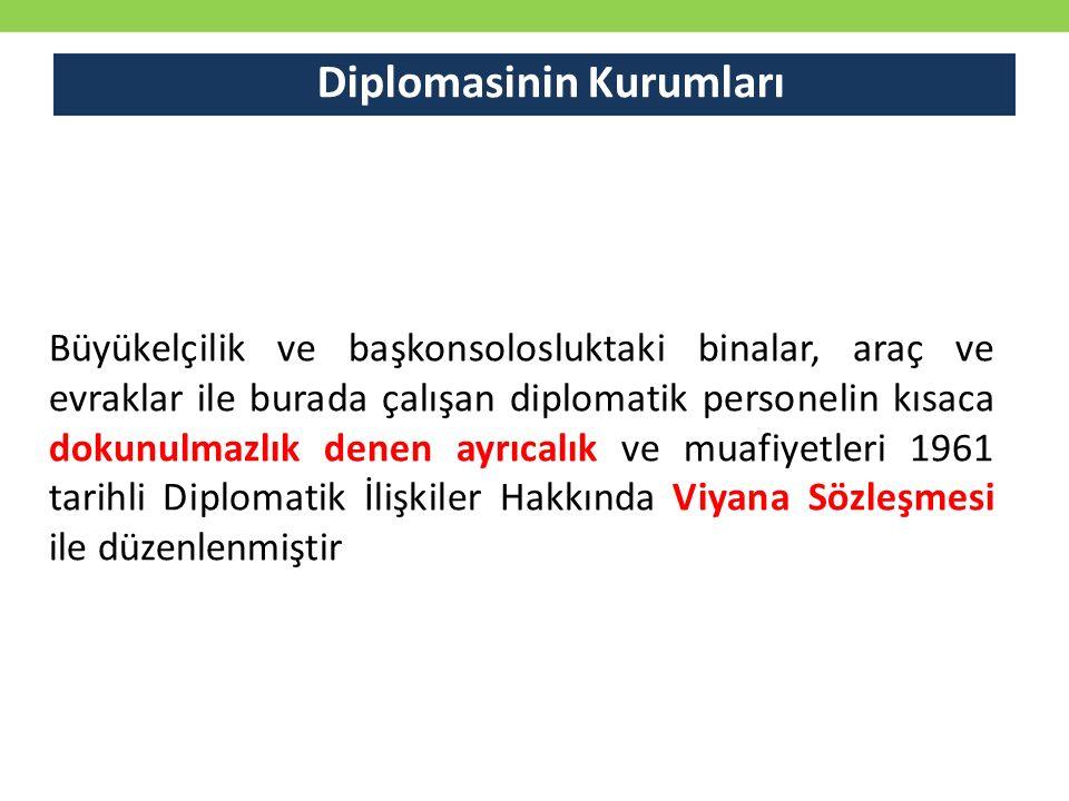 Diplomasinin Kurumları