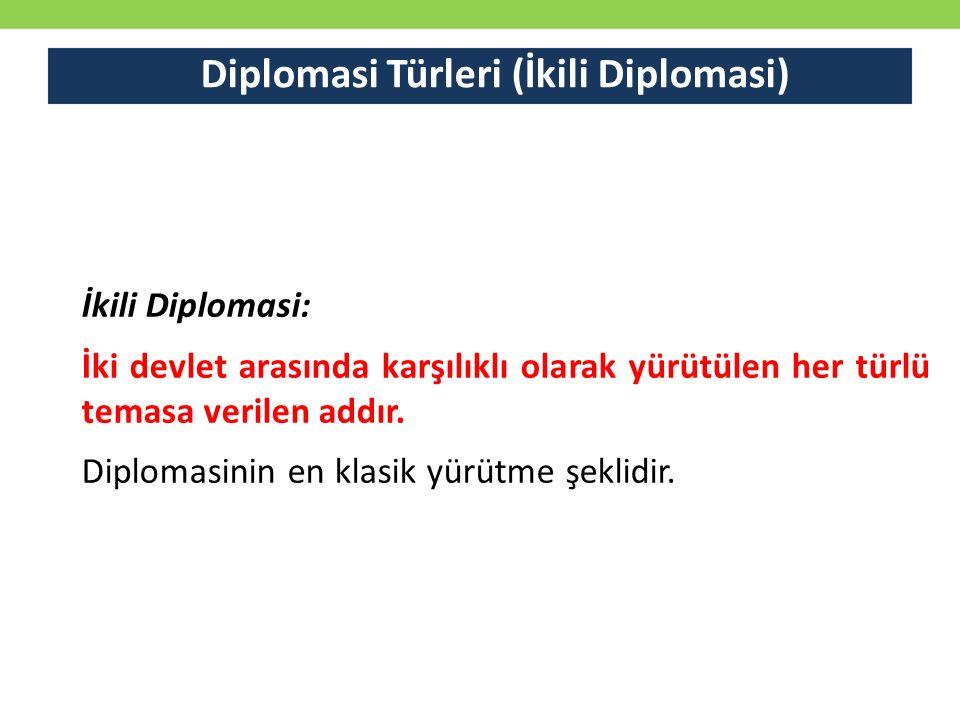 Diplomasi Türleri (İkili Diplomasi)
