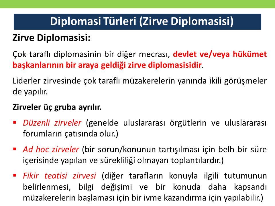 Diplomasi Türleri (Zirve Diplomasisi)