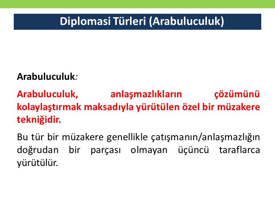Diplomasi Türleri (Arabuluculuk)