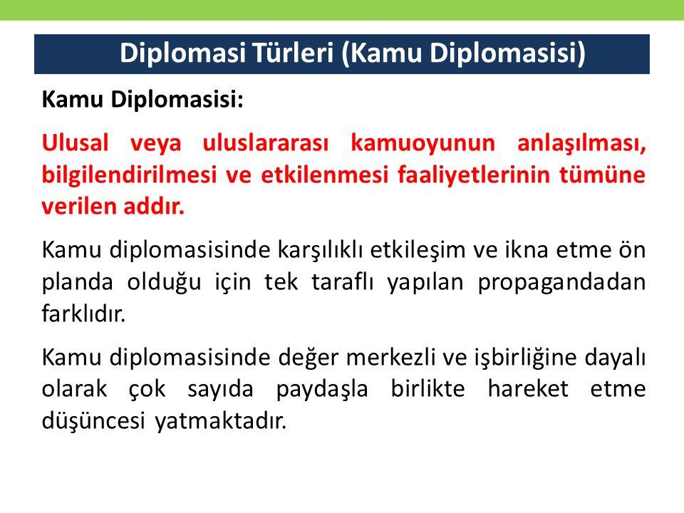 Diplomasi Türleri (Kamu Diplomasisi)