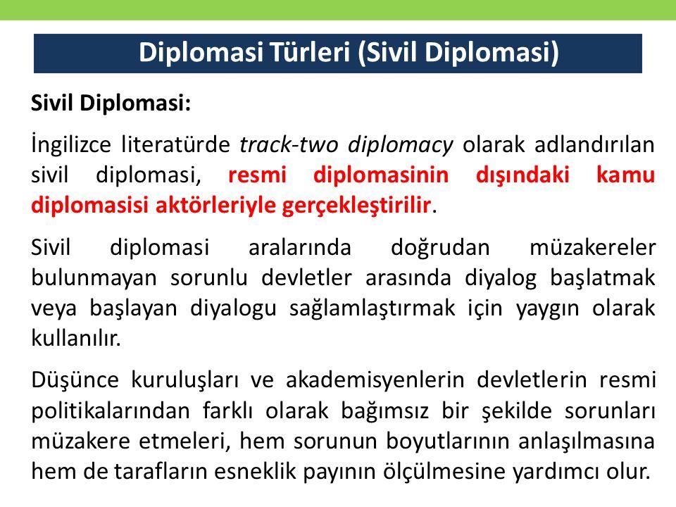 Diplomasi Türleri (Sivil Diplomasi)