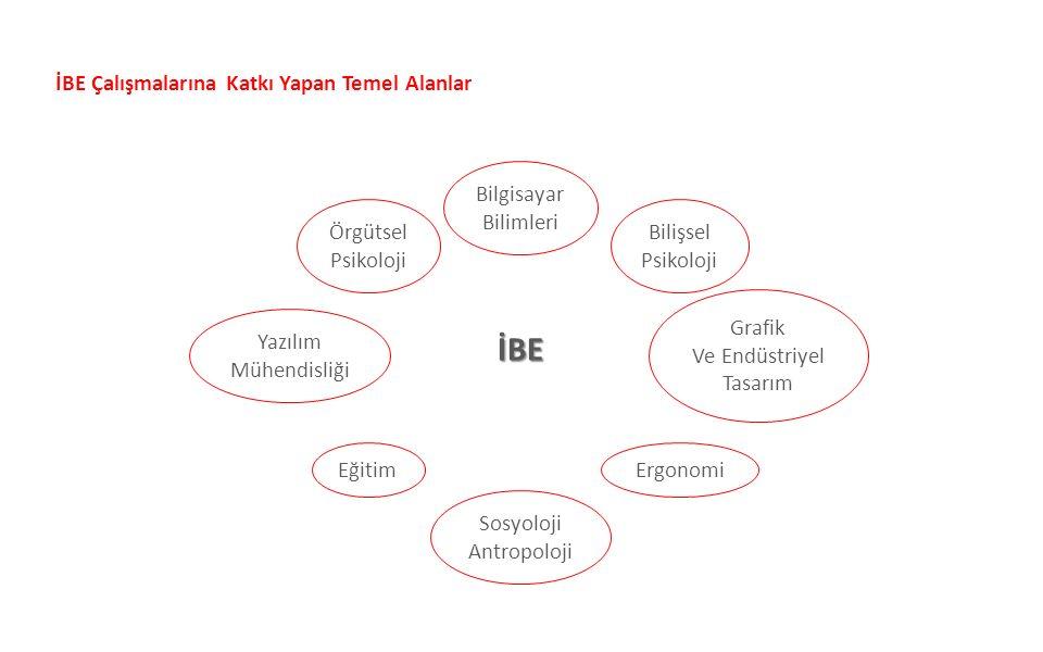İBE Çalışmalarına Katkı Yapan Temel Alanlar