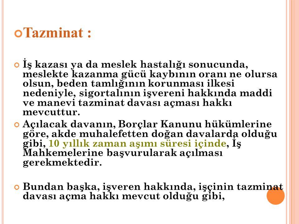 Tazminat :