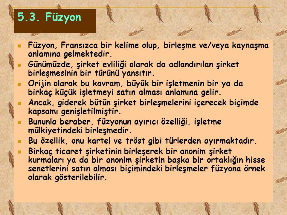 5.3. Füzyon Füzyon, Fransızca bir kelime olup, birleşme ve/veya kaynaşma anlamına gelmektedir.
