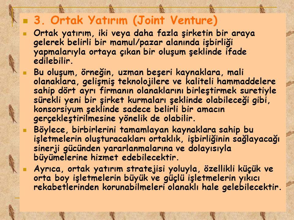 3. Ortak Yatırım (Joint Venture)