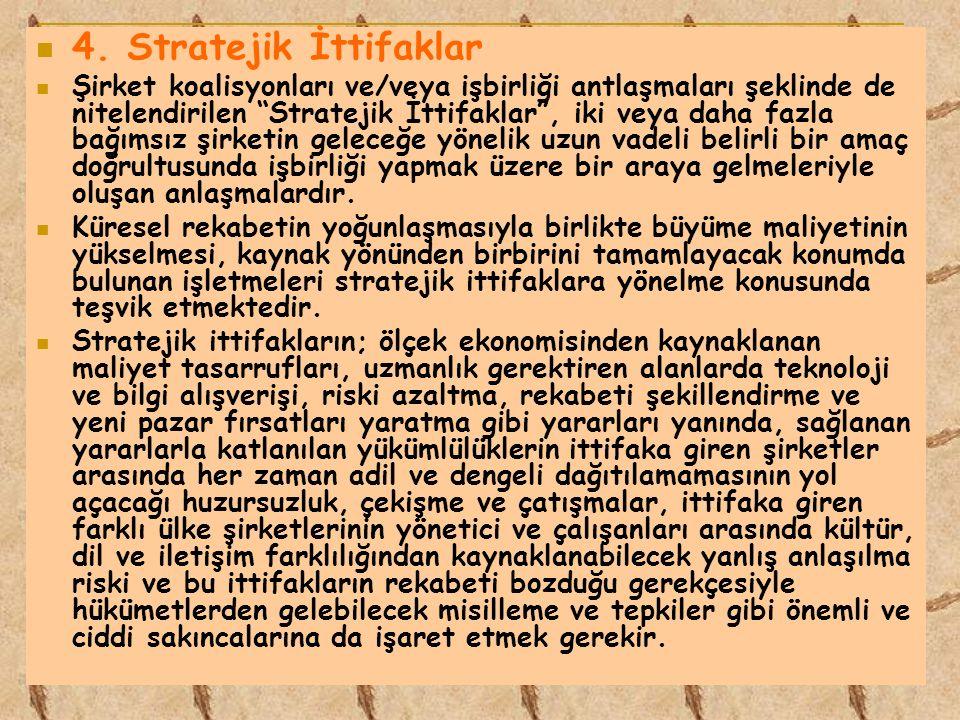 4. Stratejik İttifaklar
