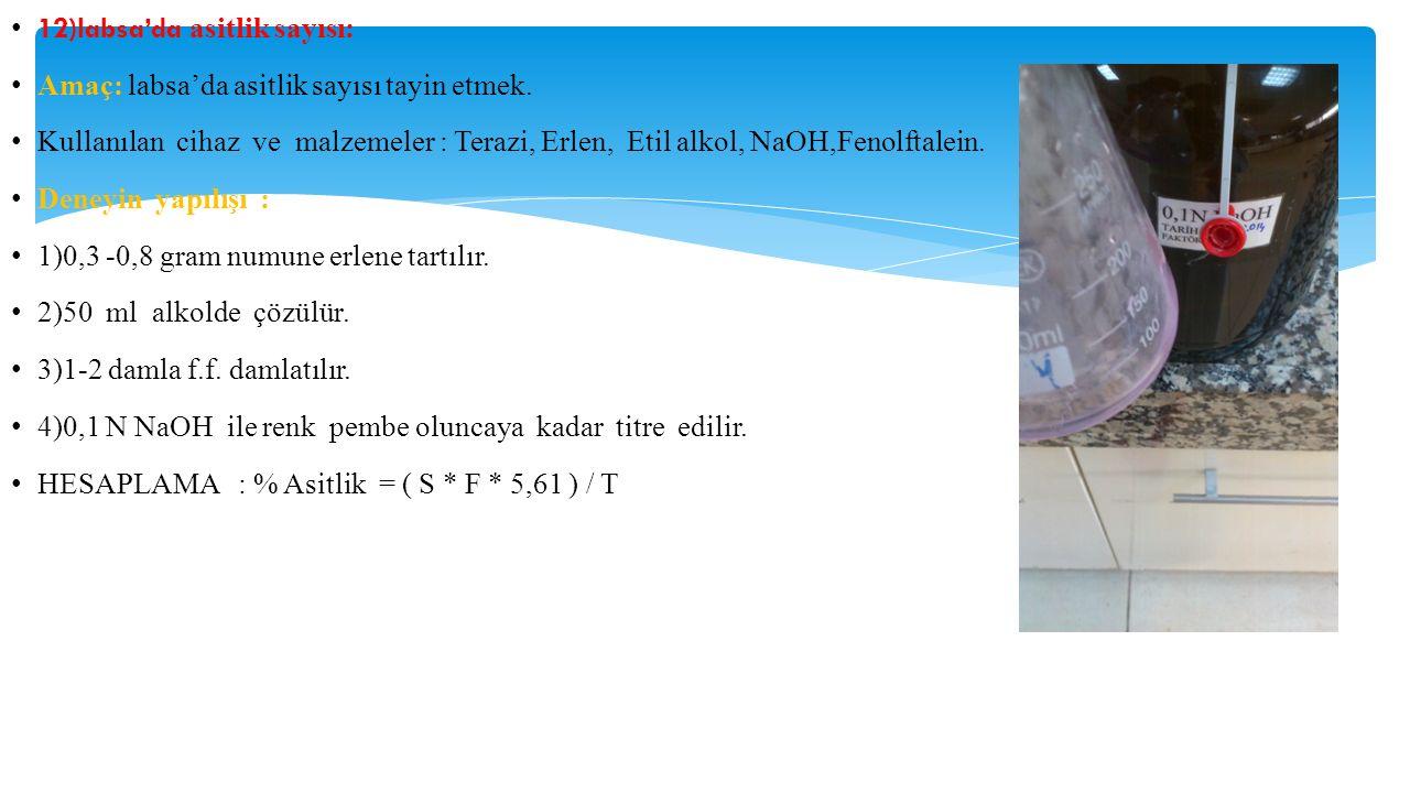 12)labsa'da asitlik sayısı: