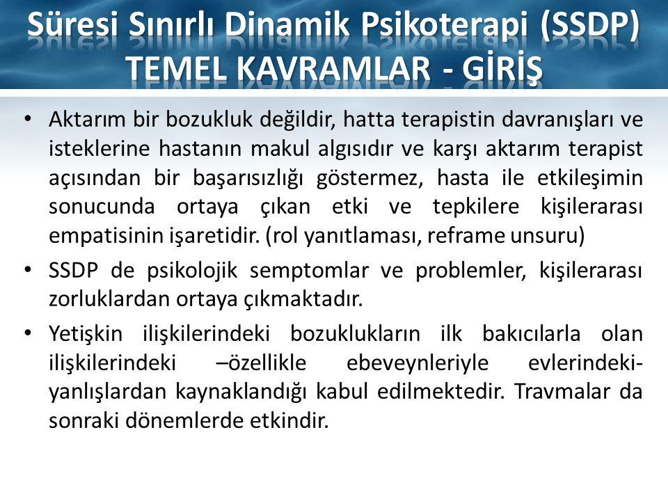 Süresi Sınırlı Dinamik Psikoterapi (SSDP) TEMEL KAVRAMLAR - GİRİŞ