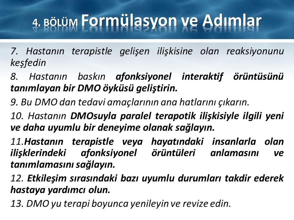 4. BÖLÜM Formülasyon ve Adımlar
