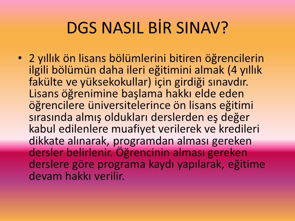 DGS NASIL BİR SINAV