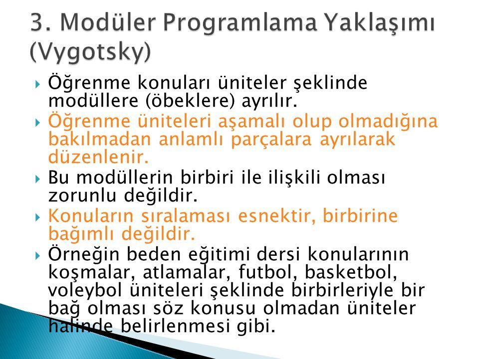 3. Modüler Programlama Yaklaşımı (Vygotsky)