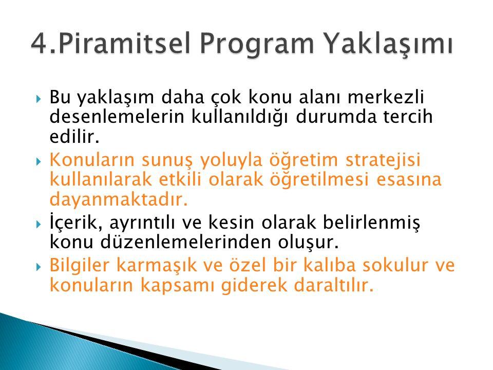 4.Piramitsel Program Yaklaşımı
