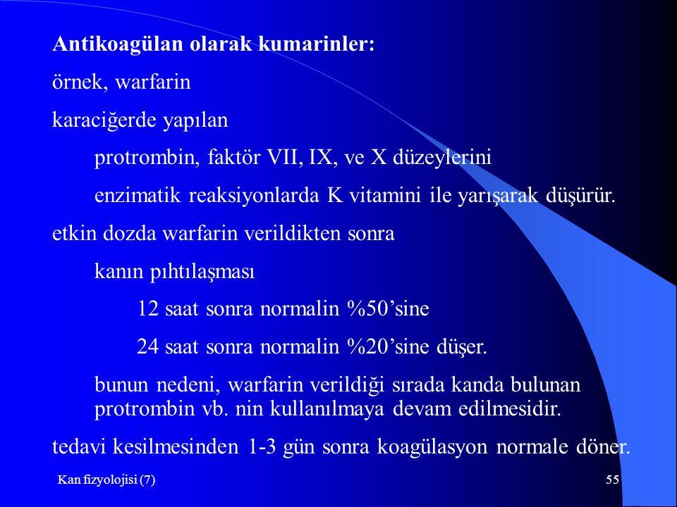 Antikoagülan olarak kumarinler: örnek, warfarin karaciğerde yapılan