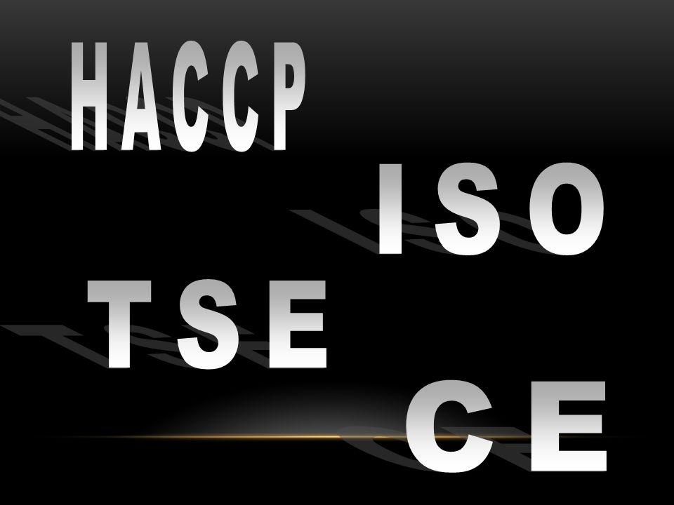 HACCP ISO TSE CE