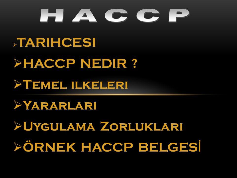 HACCP NEDIR Temel ilkeleri Yararları Uygulama Zorlukları