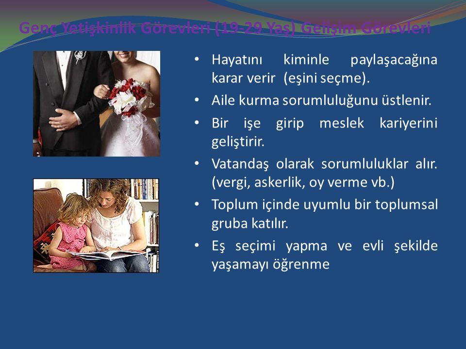 Genç Yetişkinlik Görevleri (19-29 Yaş) Gelişim Görevleri