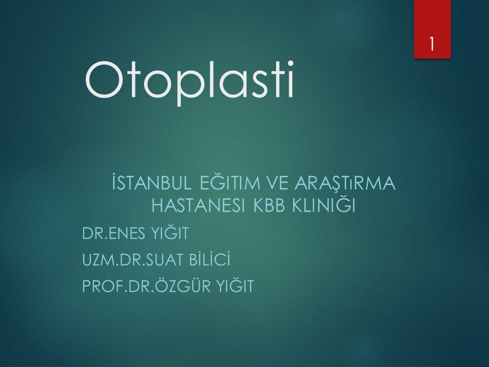 İstanbul Eğitim ve Araştırma Hastanesi KBB Kliniği
