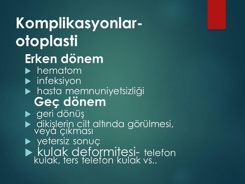 Komplikasyonlar- otoplasti