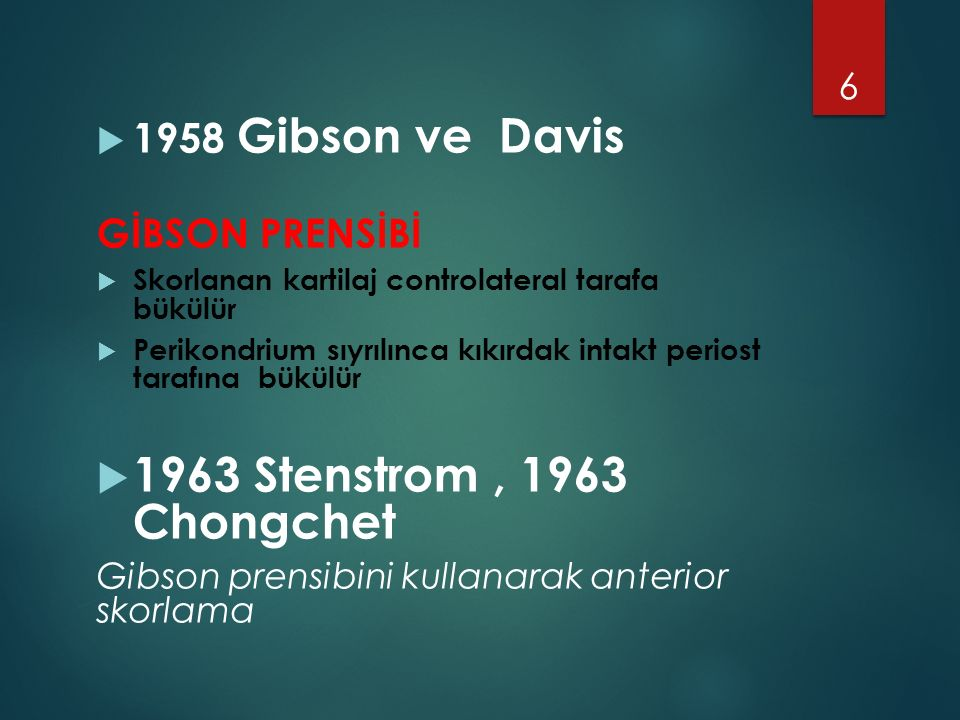 1963 Stenstrom , 1963 Chongchet 1958 Gibson ve Davis GİBSON PRENSİBİ