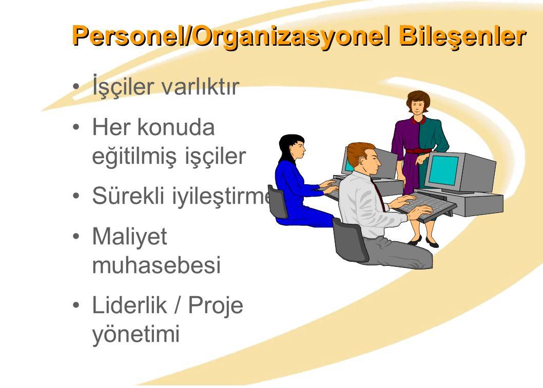 Personel/Organizasyonel Bileşenler