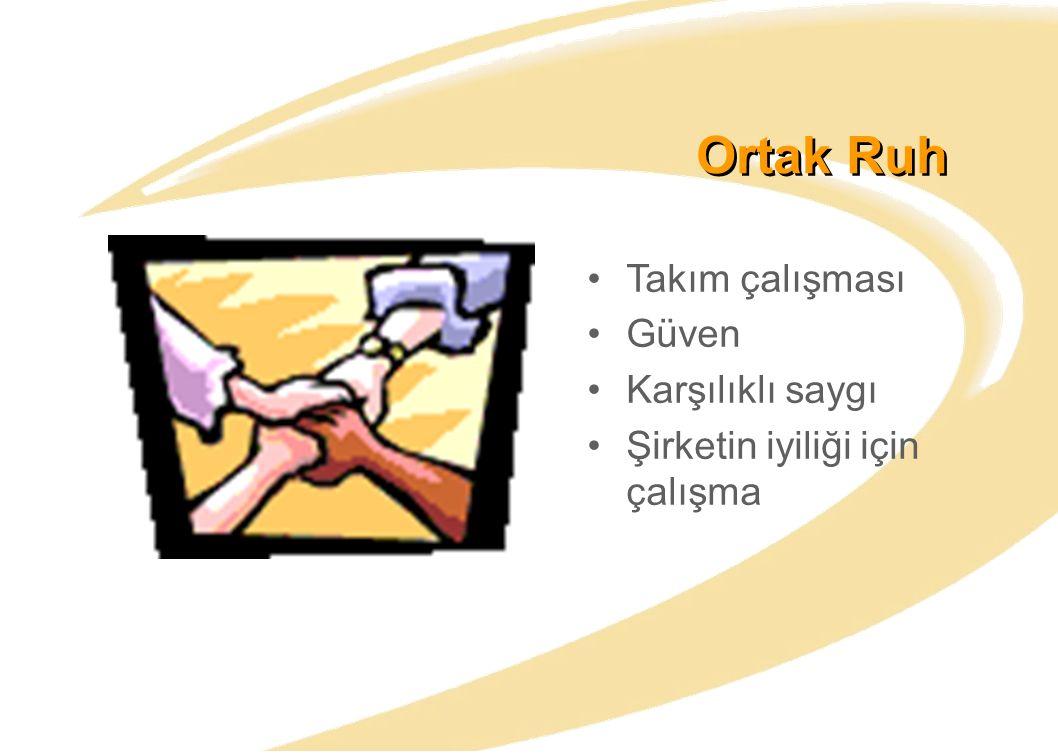 Ortak Ruh Takım çalışması Güven Karşılıklı saygı