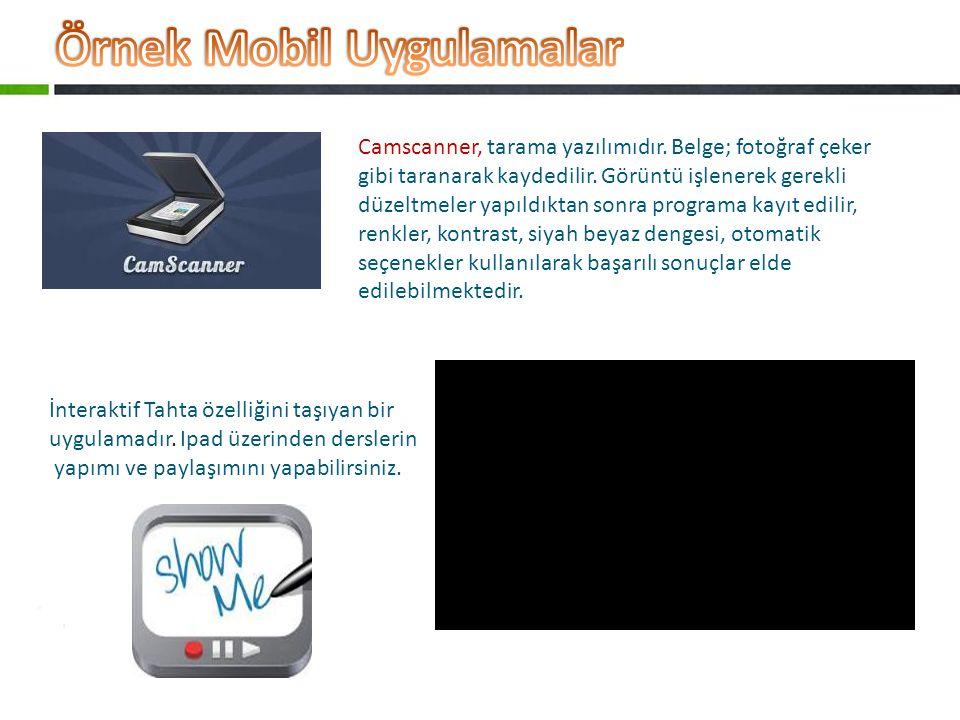 Örnek Mobil Uygulamalar
