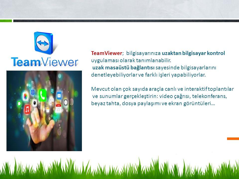 TeamViewer; bilgisayarınıza uzaktan bilgisayar kontrol