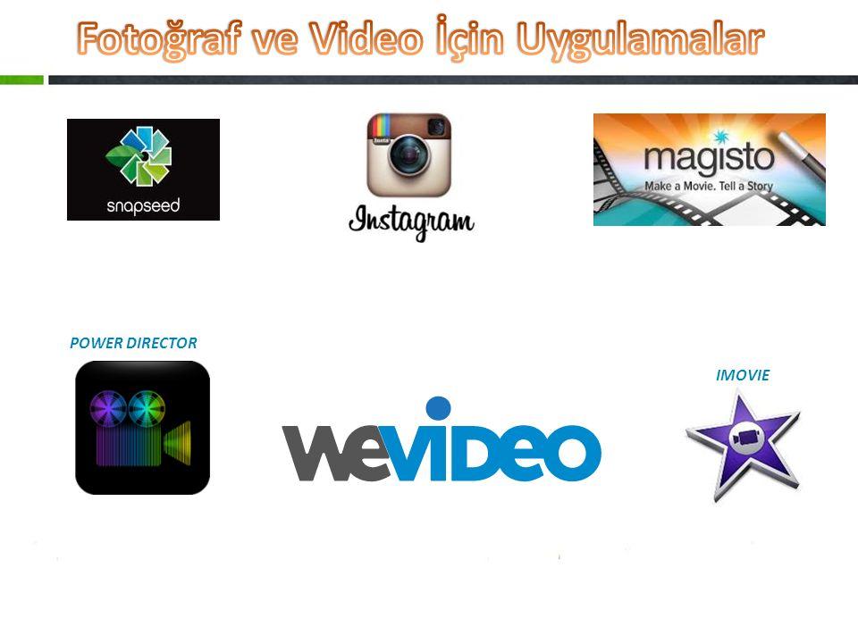Fotoğraf ve Video İçin Uygulamalar