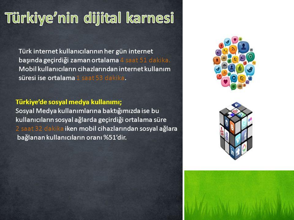 Türkiye'nin dijital karnesi