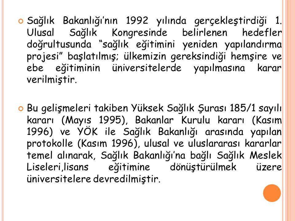 Sağlık Bakanlığı'nın 1992 yılında gerçekleştirdiği 1