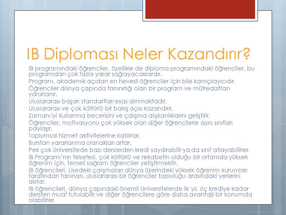 IB Diploması Neler Kazandırır