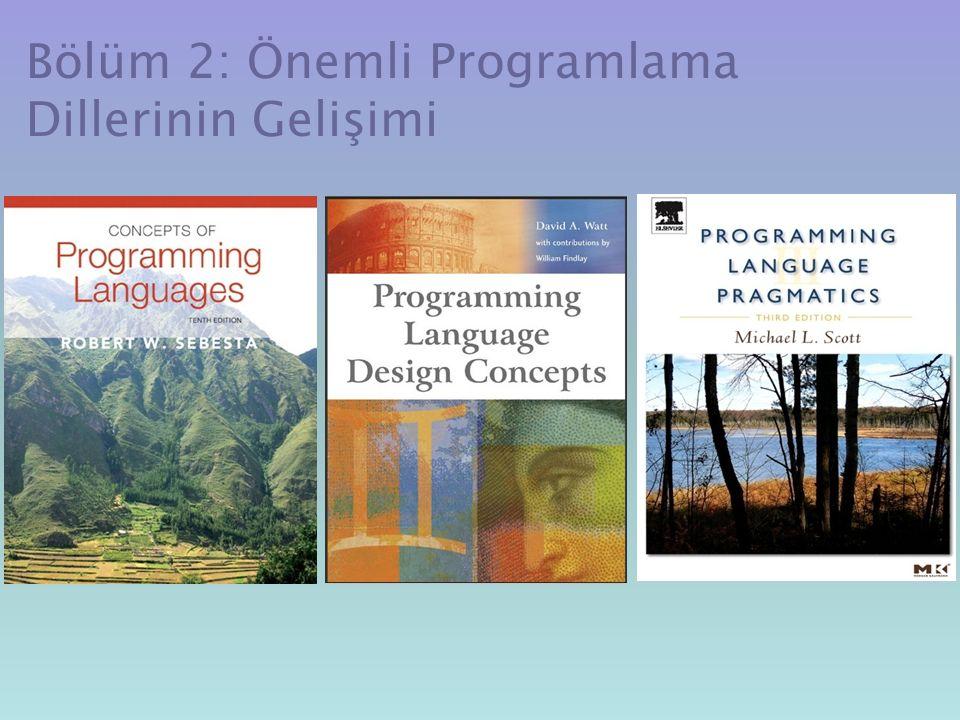Bölüm 2: Önemli Programlama Dillerinin Gelişimi