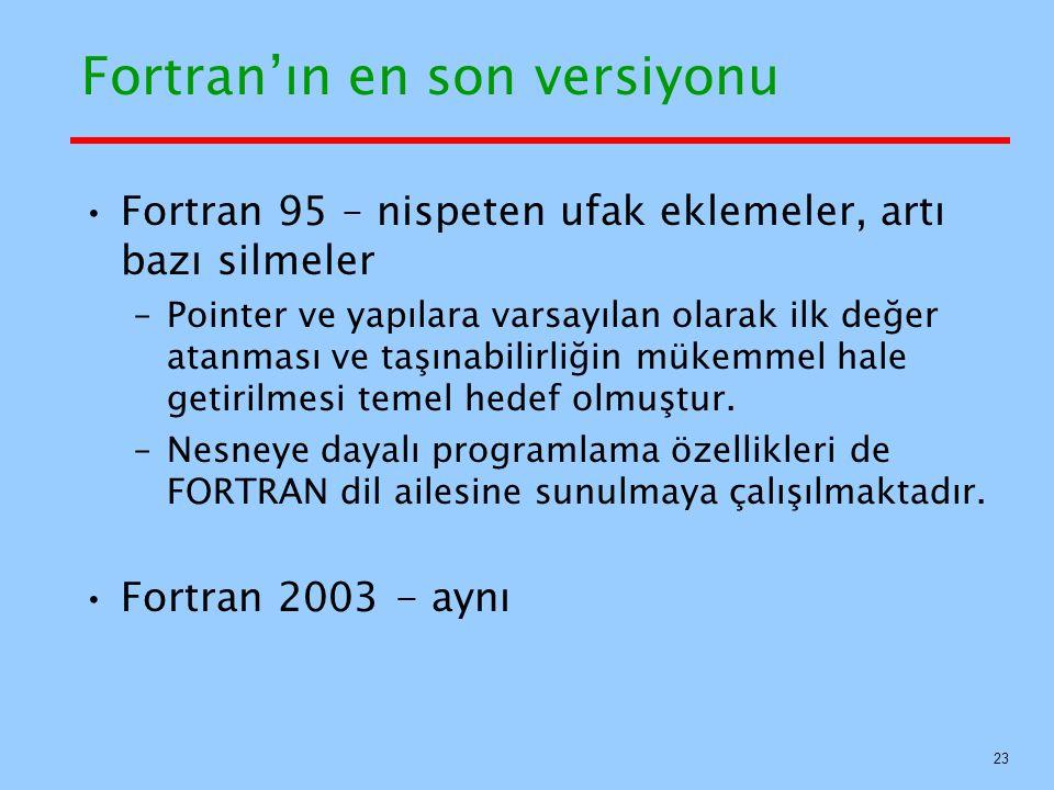 Fortran'ın en son versiyonu