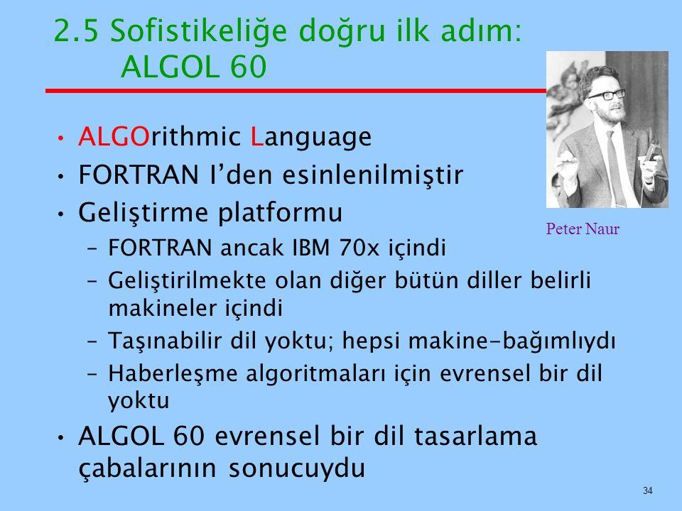 2.5 Sofistikeliğe doğru ilk adım: ALGOL 60