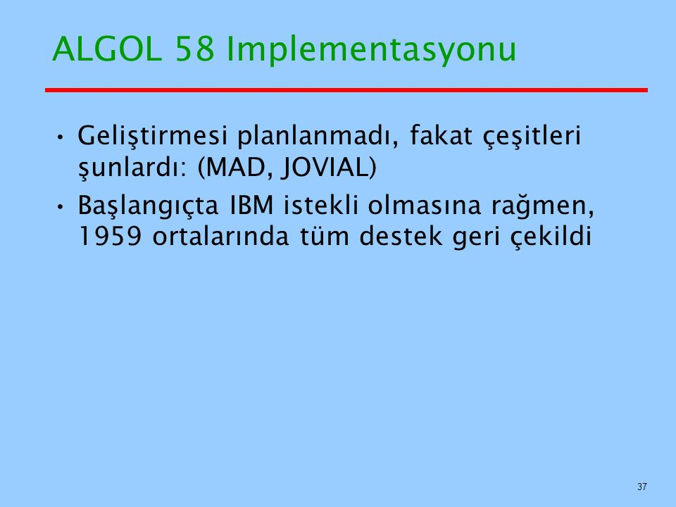 ALGOL 58 Implementasyonu