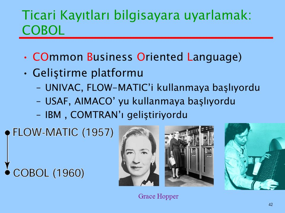 Ticari Kayıtları bilgisayara uyarlamak: COBOL