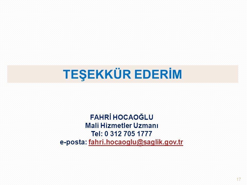 e-posta: fahri.hocaoglu@saglik.gov.tr