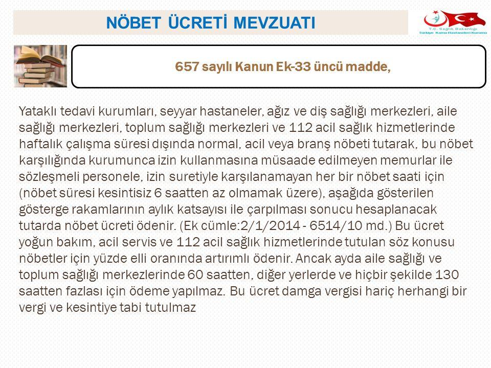 657 sayılı Kanun Ek-33 üncü madde,