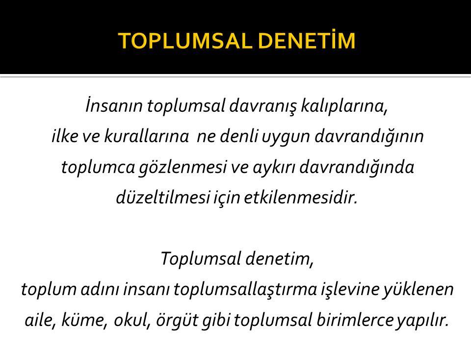 TOPLUMSAL DENETİM