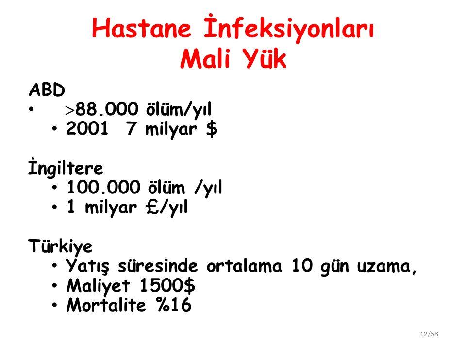 Hastane İnfeksiyonları Mali Yük