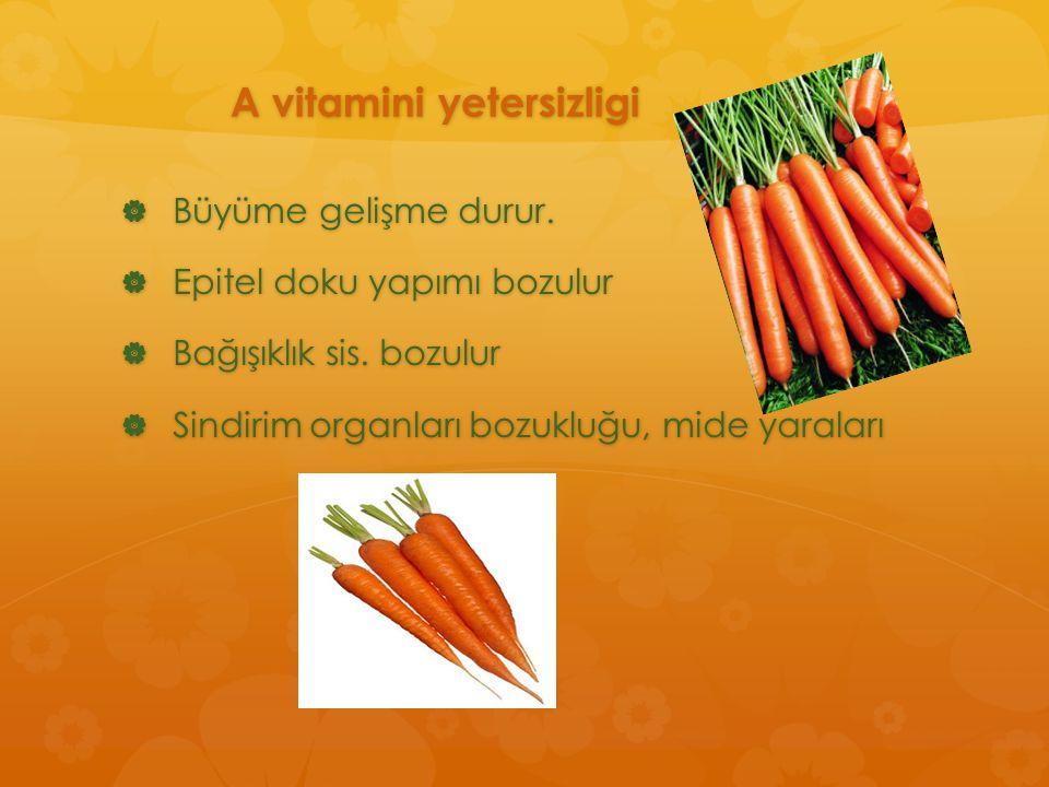 A vitamini yetersizligi
