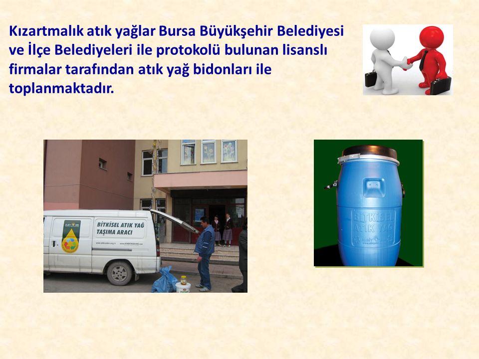 Kızartmalık atık yağlar Bursa Büyükşehir Belediyesi