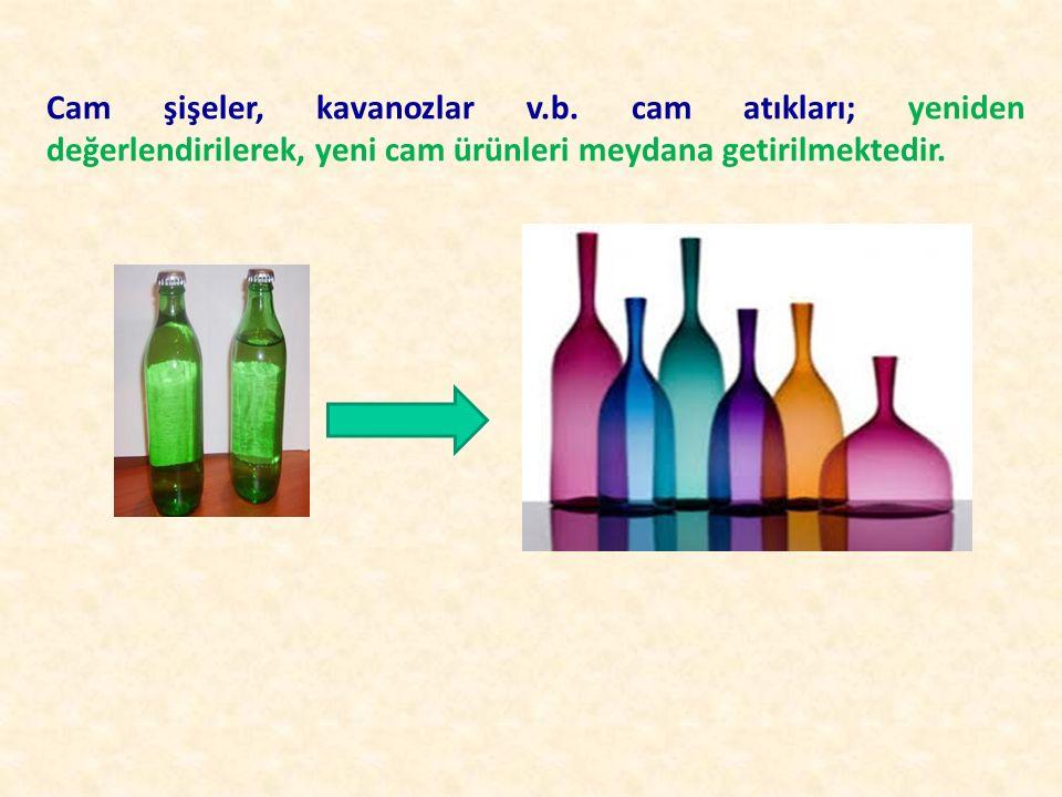 Cam şişeler, kavanozlar v. b