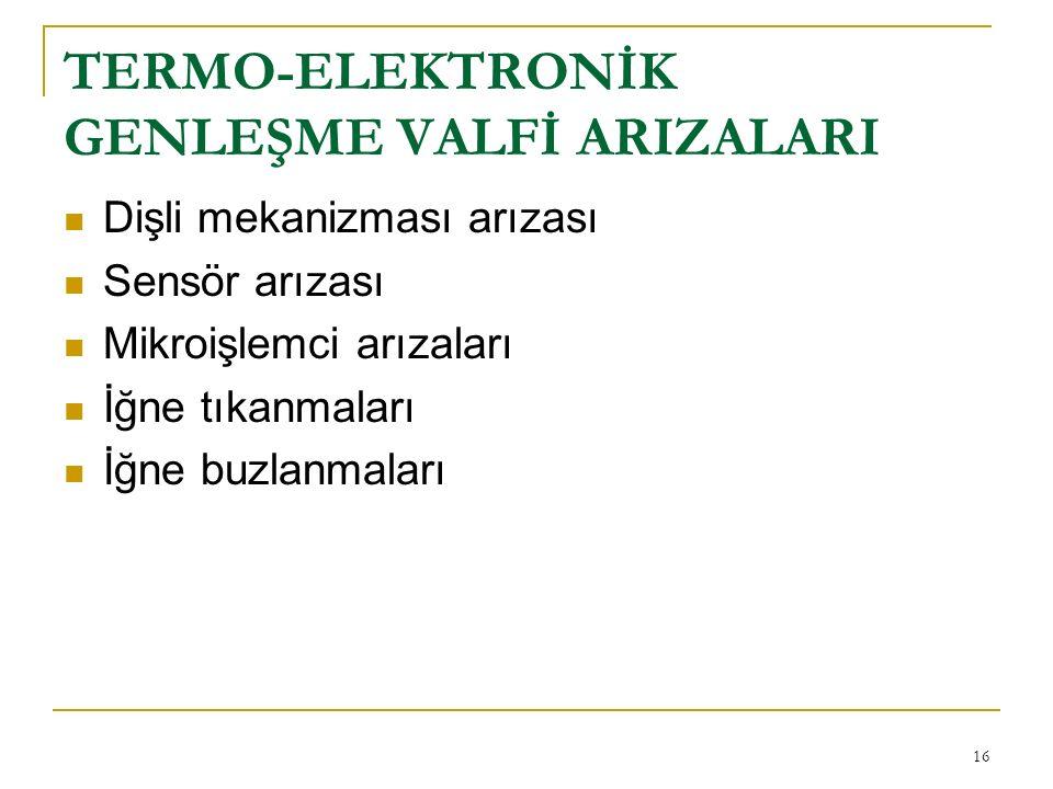 TERMO-ELEKTRONİK GENLEŞME VALFİ ARIZALARI