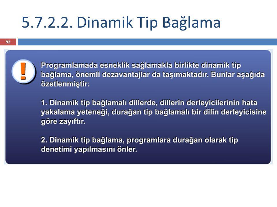 5.7.2.2. Dinamik Tip Bağlama